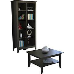 Mesa de centro+librero essential wengue
