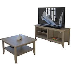 Mesa de centro+rack essential oak