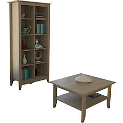 Mesa de centro+librero essential oak
