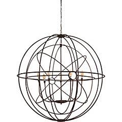 Lámpara colgante 166 cm 7 luces 280 W