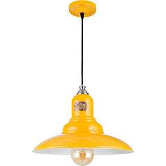 Lámpara de colgar old vintage amarillo