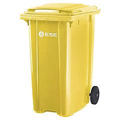 Basurero con tapa 360 litros Amarillo
