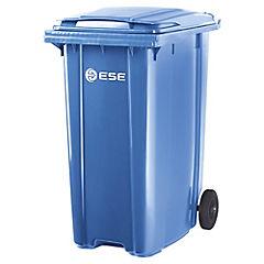 Basurero con tapa 360 litros Azul