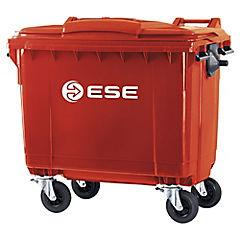 Contenedor de basura 1100 litros rojo