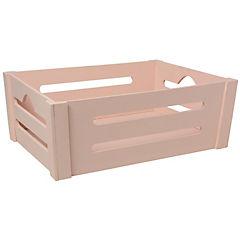 Caja decorativa 14x40x30 cm madera rosado