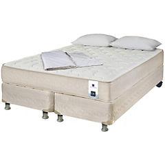 Box spring Ortopedic b5 2 plazas base dividida almohada + cubre cama