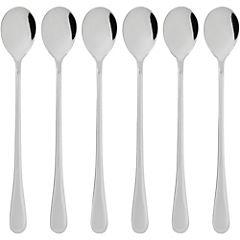Set de cucharas para helado acero inoxidable 6 unidades gris