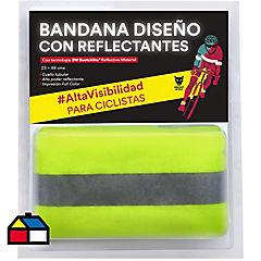 Bandana reflectante 15,4x13,4x3,7cm tela Amarillo