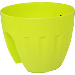 Macetero colgante de polipropileno 25 cm Verde