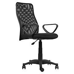 Silla Desk  brazo fijo tapiz asiento negro
