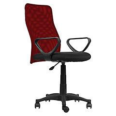 Silla Desk  brazo fijo tapiz asiento rojo