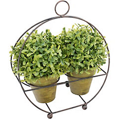 Planta artificial 29 cm con portamacetero