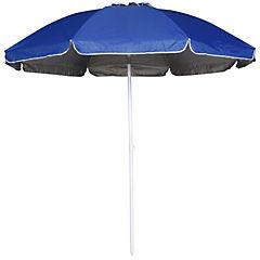 Quitasol de playa 2,5 m UV+50 azul