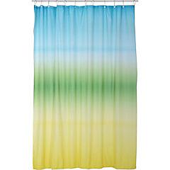 Cortina de baño microfibra Degrade 180x180 cm verde