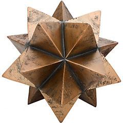 Esfera decorativa 24x29,5x29,5 cm poliresina Madera