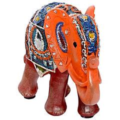 Elefante decorativo 17,7x20,8x8,2 cm poliresina rojo