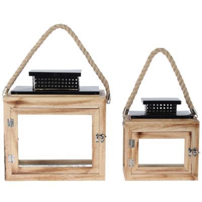 Set de portavelas madera 2 unidades for Falabella combos camas