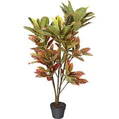 Croton artificial 115 cm con macetero