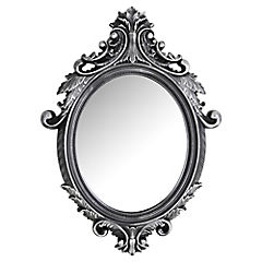 Espejo vintage 72.5x53 cm negro