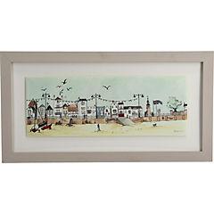 Cuadro enmarcado 46x26 cm Paseo playa