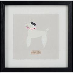 Cuadro enmarcado 24x24 cm Perro 1