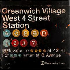 Canvas decorativo Greenwich Village 90x90 cm