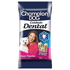Alimiento perro snack cuidado dental razas pequeñas 39 gr