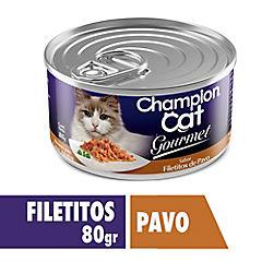 Alimento gato húmedo gourmet pavo 80 gr