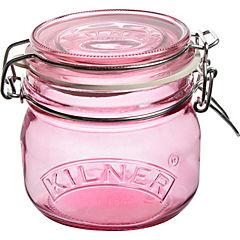 Frasco transparente de 0,5 litro rosa