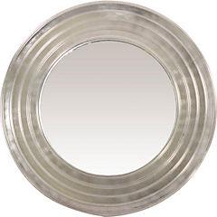 Espejo circular 50 cm plateado