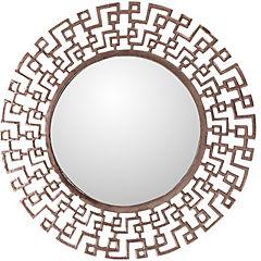 Espejo redondo 61 cm geométrico cobre