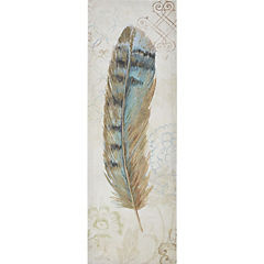 Canvas decorativo Pluma 30x90 cm