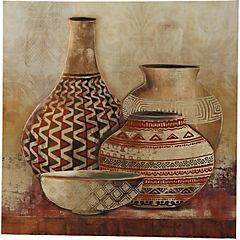 Canvas decorativo Vasijas 60x60 cm