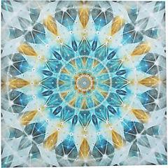 Canvas con aplicaciones 80x80 cm abstracto 2