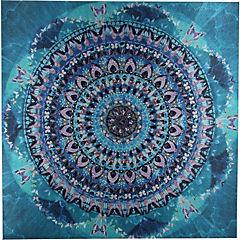 Canvas con aplicaciones 90x90 cm abstracto 3