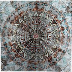 Canvas con aplicaciones 90x90 cm abstracto 4