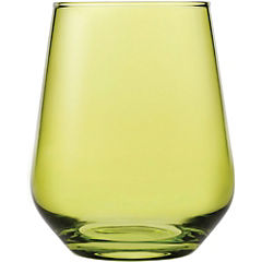 Vaso vidrio 425 ml amarillo
