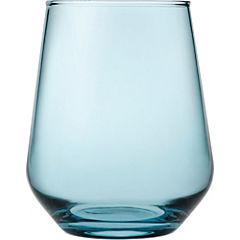 Vaso vidrio 425 ml azul