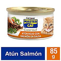 Alimento húmedo premium para gato tipo salmón 85 gr