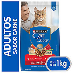 Alimento seco para gato adulto 1 kg carne