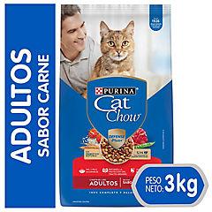 Alimento seco para gato adulto 3 kg carne
