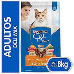 Alimento seco para gato adulto 8 kg carne, pollo y pescado