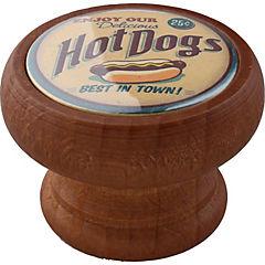 Perilla 40 mm madera tinte  miel hot dogs