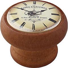 Pomo 40 mm madera tinte  miel reloj café
