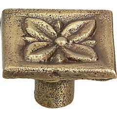 Perilla flor 26 mm cuero mate