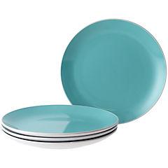 Set de platos 4 unidades Azul
