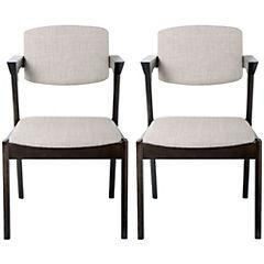 Set de sillas 89x50x54 cm gris 2 unidades