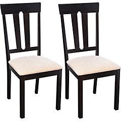 Set de sillas 96x41x46 cm beige 2 unidades