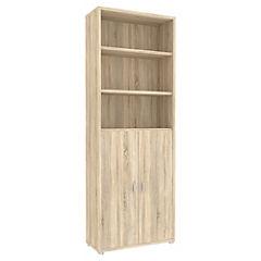 Librero Bocca grande 5 repisas 2 puertas ak 80x35x221 cm