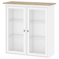 Gabinete pared 2puertas 99x37x113 cm blanco y ak